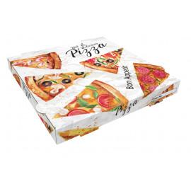 100 CAJAS PIZZA CARTON 30 X 30 CM.