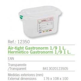 HERMETICO GASTRONORM 1/9 1 L. REF: 12350