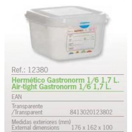 HERMETICO GASTRONORM 1/6 1,7 L. REF: 12380