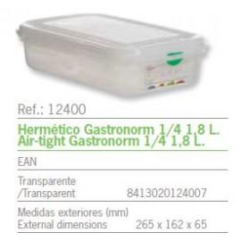 HERMETICO GASTRONORM 1/4 1,8 L. REF: 12400