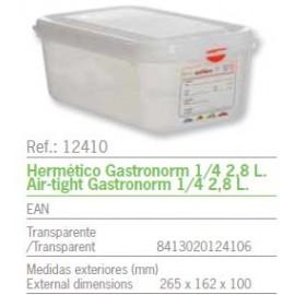HERMETICO GASTRONORM 1/4 2,8 L. REF: 12410