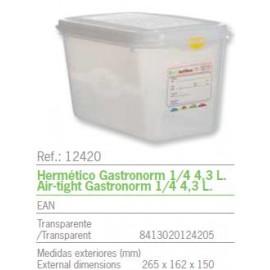 HERMETICO GASTRONORM 1/4 4,3 L. REF: 12420