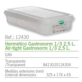 HERMETICO GASTRONORM 1/3 2,5 L. REF: 12430