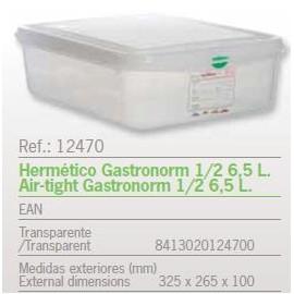 HERMETICO GASTRONORM 1/2 6,5 L. REF: 12470
