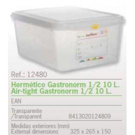 HERMETICO GASTRONORM 1/2 10 L. REF: 12480