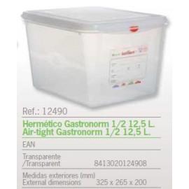 HERMETICO GASTRONORM 1/2 12,5 L. REF: 12490
