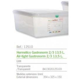 HERMETICO GASTRONORM 2/3 13,5 L. REF: 12510