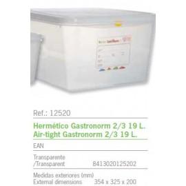 HERMETICO GASTRONORM 2/3 19 L. REF: 12520