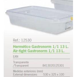 HERMETICO GASTRONORM 1/1 13 L. REF: 12530