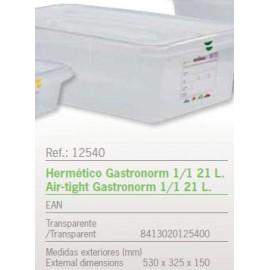 HERMETICO GASTRONORM 1/1 21 L. REF: 12540