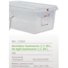 HERMETICO GASTRONORM 1/1 28 L. REF: 12550